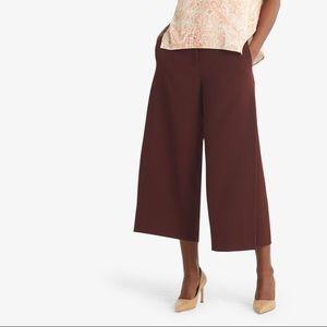 M.M. Lafleur Burgundy Cropped Culotte Pants